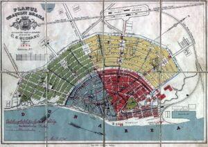Harta veche a orasului Braila